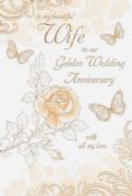 Wife 50th Golden Wedding Anniversary Card